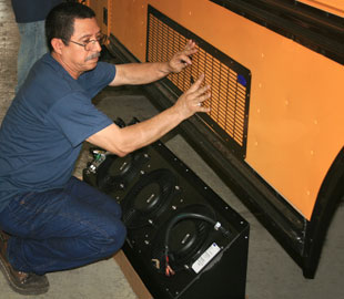 Bus Air Conditioning Installation | Air Conditioning for